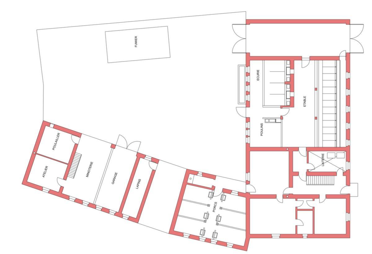 Ferme mosellane des ann es 40 au 1 87 le forum gtp 1 re for Plan hangar agricole